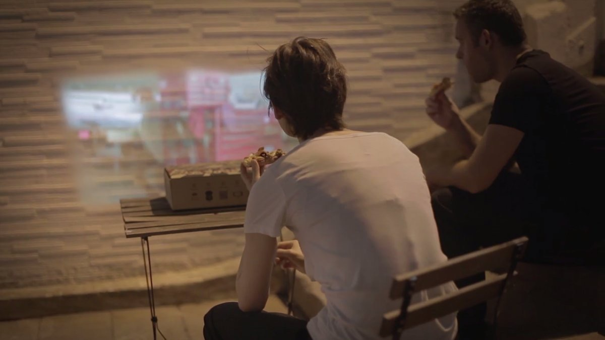 retail news pizza hut has a new box that turns into a movie projector for your smartphone